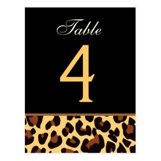 Oro y tarjeta negra del número de la tabla del bod tarjetas postales