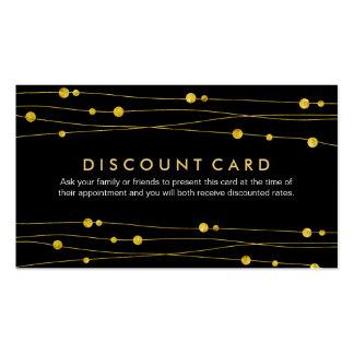 Oro y tarjetas negras del descuento para la tarjetas de visita