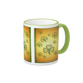 Oro y tazas verdes Shamrocks-2