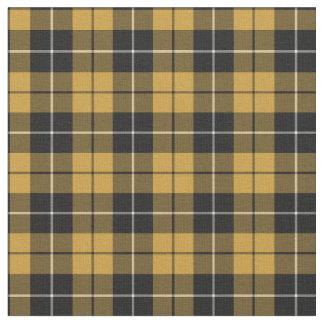 Oro y tela escocesa deportiva del negro telas