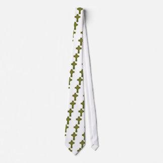 Oro y verde de la cruz céltica corbatas