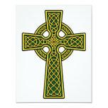 Oro y verde de la cruz céltica anuncios personalizados
