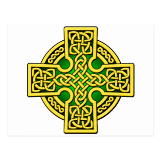Oro y verde de la manera del Celtic 4 Tarjeta Postal