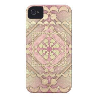 Oro y vidrio martillados iPhone 4 protectores