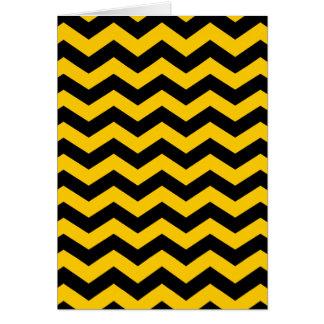 Oro y zigzag negro tarjeta de felicitación