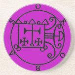 Orobas Sigil Coaster Purple