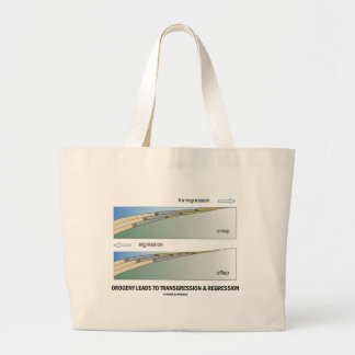 Orogeny Leads To Transgression & Regression Jumbo Tote Bag