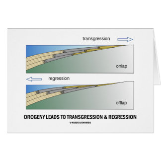 Orogeny Leads To Transgression Regression Greeting Card