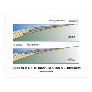 Orogeny Leads To Transgression Regression Post Card