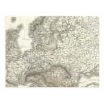 Orograph Europa - Physical Map of Europe Postcard