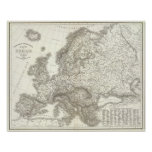 Orograph Europa - Physical Map of Europe Poster