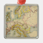 Orographic map of Europe Christmas Ornament