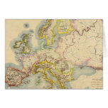 Orographic map of Europe Greeting Cards