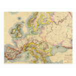 Orographic map of Europe Post Card