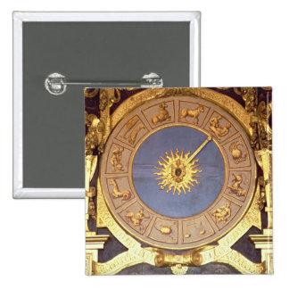 Orologio Zodicale (Zodiac Clock) (fresco and gilde Pinback Button