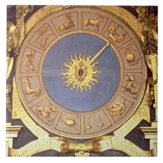 Orologio Zodicale (Zodiac Clock) (fresco and gilde Tile