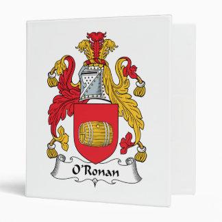 O'Ronan Family Crest 3 Ring Binders