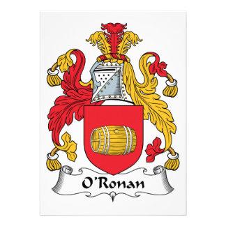 O'Ronan Family Crest Announcement