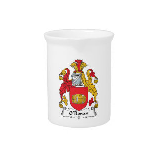 O'Ronan Family Crest Beverage Pitcher