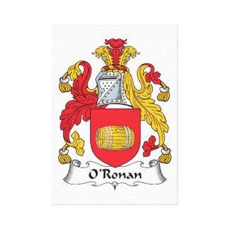 O'Ronan Family Crest Gallery Wrap Canvas