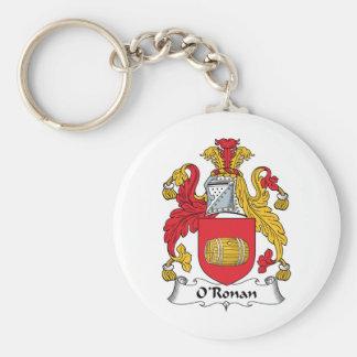 O'Ronan Family Crest Keychains