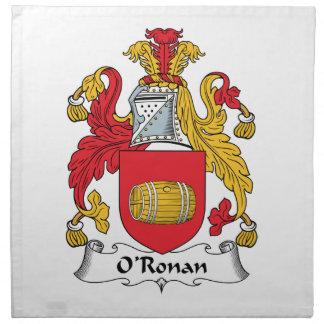 O'Ronan Family Crest Napkin