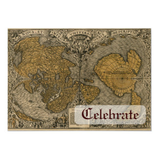 Oronce Fine 1531 Map 5x7 Paper Invitation Card