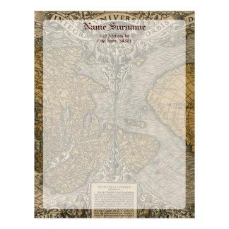 Oronce Fine 1531 Map Letterhead Template