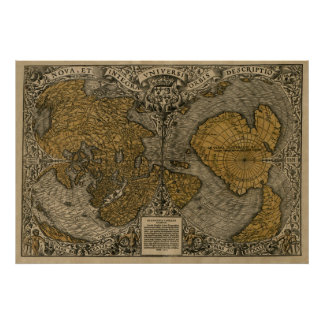 Oronce Fine 1531 Map Poster