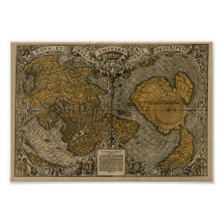 Oronce Fine 1531 World map Posters