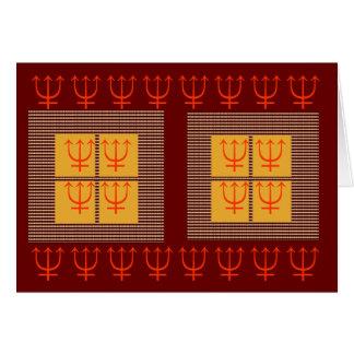 Oros de cuatro cuadrados de la protección 8 x 3 de tarjeta de felicitación