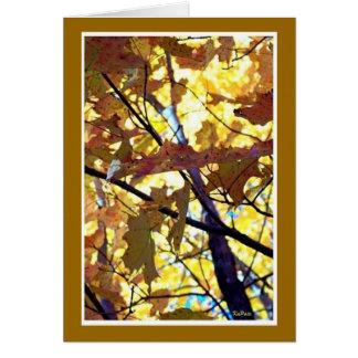 Oros del otoño felicitación