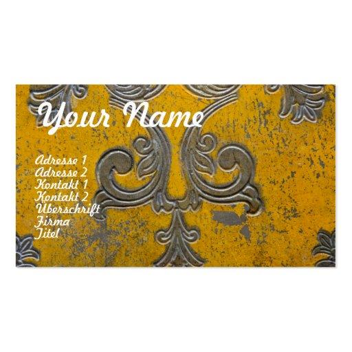 Oros ornamentales - negocio Card, Visitienkarte/ Plantillas De Tarjetas De Visita