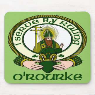 O'Rourke Clan Motto Mouse Pad