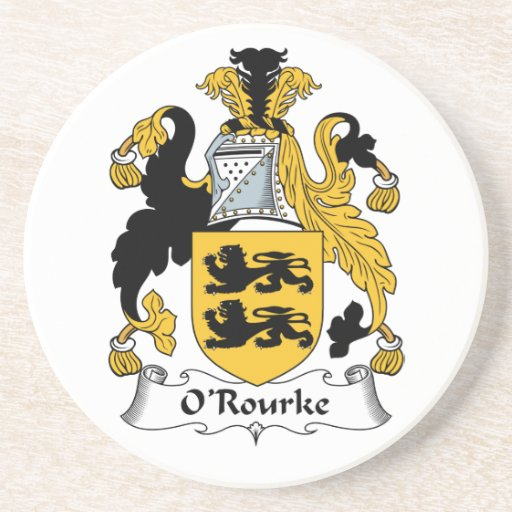 O'Rourke Family Crest Coasters
