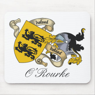 O'Rourke Family Crest Mouse Mats