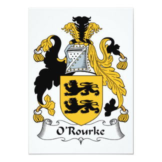 O'Rourke Family Crest Personalized Announcements