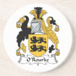 "O&#39;Rourke Family Crest Sandstone Coaster<br><div class=""desc"">O&#39;Rourke Coat of Arms</div>"