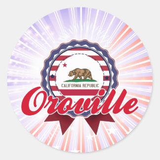 Oroville, CA Pegatina Redonda