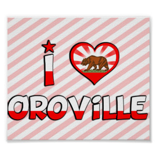 Oroville, CA Print