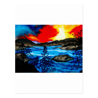 Oroville Colors Postcard