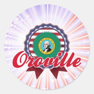 Oroville, WA Pegatina Redonda