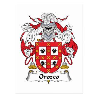Orozco Family Crest Postcard