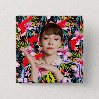 Orphan Black | Alison - Floral Pattern Button