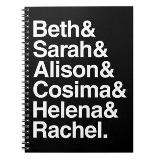 Orphan Black | Helvetica Design Spiral Notebook