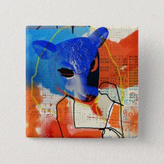 Orphan Black   MK - Sheep Mask Silhouette Button