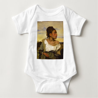 Orphan Girl at the Cemetery by Eugene Delacroix Baby Bodysuit