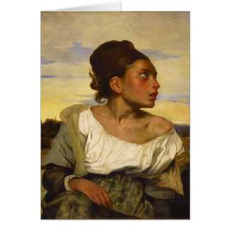 Orphan Girl at the Cemetery by Eugene Delacroix Card