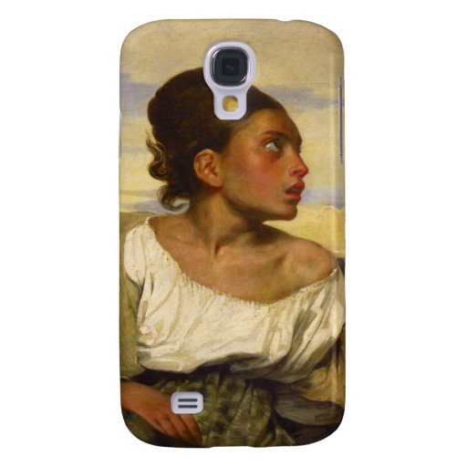 Orphan Girl at the Cemetery by Eugene Delacroix Samsung Galaxy S4 Cover