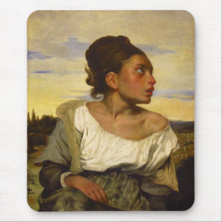 Orphan Girl at the Cemetery by Eugene Delacroix Mouse Pad